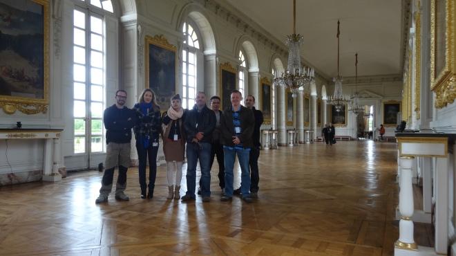 Zwiedzanie Triano. Od lewej: Benjamin, Audrey, Milena, Bertrand, Silva, Ja, Philip.